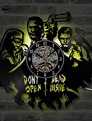 cheap -Handmade Walking Dead Theme 3D Recording Clock Classic Creative and Antique Vinyl Record Wall Clock