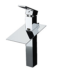 cheap -Bathroom Sink Faucet - Waterfall / LED Chrome Free Standing Single Handle Two HolesBath Taps