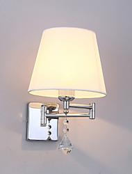 cheap -Crystal Simple Modern Contemporary Swing Arm Lights Living Room Bedroom Metal Wall Light 110-120V 220-240V 60 W E26 E27