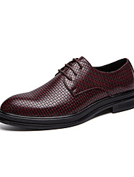 cheap -Men's Formal Shoes PU Spring & Summer / Fall & Winter Casual / British Oxfords Black / Red / Party & Evening