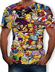 cheap -Inspired by Karneval Cosplay T-shirt Poly / Cotton Novelty Cartoon Novelty Stylish For Unisex