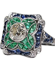cheap -Women's Engagement Ring thumb ring 1pc Light Green Alloy Elizabeth Locke Birthday Gift Jewelry Artisan Lovely