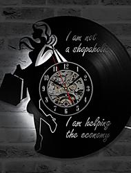 Недорогие -классические модные виниловые CD записи настенные часы