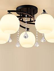 cheap -JSGYlights 5-Light 65 cm Flush Mount Lights Metal Glass Painted Finishes Country / Modern 110-120V / 220-240V / E26 / E27