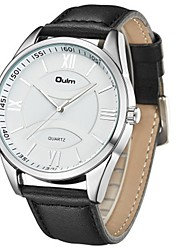 cheap -Oulm Men's Dress Watch Quartz Classic Casual Watch Analog Analog - Digital White / Genuine Leather / Genuine Leather / Large Dial / Steampunk