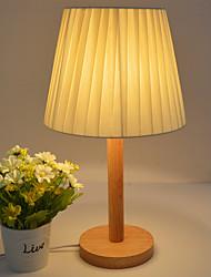 abordables -art contemporain décoratif contemporain artistique décoratif / lampe de table pour salle d'étude bureau chambre bois bambou 110-120v 220-240v rose jaune bleu