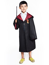 cheap -Cosplay Harry James Potter Magic Harry Gryffin d'or Cloak Unisex Movie Cosplay Yellow / Red / Blue Cloak Textile Cloth