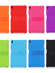 cheap -Case For Lenovo Lenovo Tab 4 8 Plus / Lenovo Tab 4 8 / Lenovo Tab 4 10 Plus Shockproof / with Stand Back Cover Solid Colored Soft Silicone
