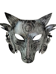 cheap -Cosplay Costume Mask Halloween Mask Inspired by Werewolf Golden Silver Halloween Halloween Masquerade Adults' Men's Women's