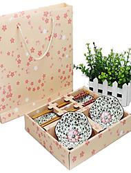 cheap -1 set Dinnerware Set Dinnerware Porcelain Bamboo Creative