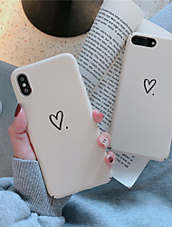 cheap -Case For Apple iPhone XS / iPhone XR / iPhone XS Max Frosted / Pattern Back Cover Heart Hard PC