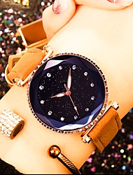cheap -Women's Wrist Watch Quartz Leather Black / Red / Brown Water Resistant / Waterproof Creative Analog Fashion Colorful - Red Green Pink