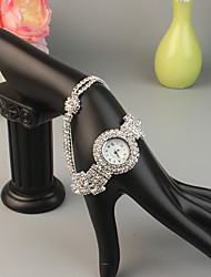cheap -FEIS Women's Bracelet Watch Fashion Silver Alloy Quartz Silver Red Creative 1 pc Analog - Digital