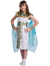 cheap -Egyptian Costume Dress Cosplay Costume Flower Girl Dress Kid's Girls' A-Line Slip Ancient Egypt Halloween Halloween Carnival Masquerade Festival / Holiday Terylene Polyster White Carnival Costumes