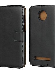 cheap -Case For Motorola Moto Z3 Play / Moto X4 / MOTO G6 Wallet / Card Holder / with Stand Full Body Cases Solid Colored Hard Genuine Leather