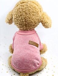 Недорогие -Собаки Жилет Зима Одежда для собак Розовый Серый Хаки Костюм Ткань для подбивки Однотонный Сохраняет тепло Плетеный S M L