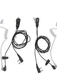 cheap -Mic Earpiece Walkie Talkie Headset For Kenwood For Baofeng Radio Devices 2Pin 2pcs