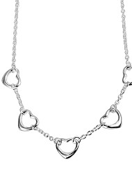 cheap -Women's Chain Necklace Necklace Charm Necklace Classic Heart Simple Trendy Romantic Fashion Silver Plated Silver 46 cm Necklace Jewelry 1pc For Gift Daily Evening Party Date Office & Career