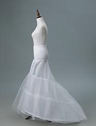 cheap -Bride Classic Lolita 1950s Layered Dress Petticoat Hoop Skirt Crinoline Women's Girls' Tulle Lace Costume White Vintage Cosplay Wedding Party Princess
