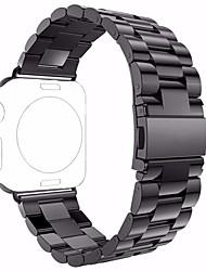 Недорогие -Нержавеющая сталь Ремешок для часов Ремень для Черный 19cm / 7.48 дюймы 2.4cm / 0.94 дюймы