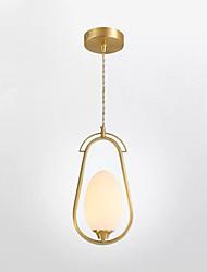 cheap -1-Light QIHengZhaoMing 10 cm Chandelier Metal Glass Brass Traditional / Classic 110-120V / 220-240V