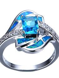 cheap -Women's Engagement Ring 1pc Light Blue Rhinestone Alloy Gift Daily Jewelry