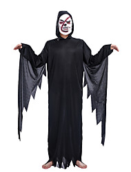 cheap -Skeleton / Skull Cosplay Costume Halloween Mask Adults' Men's Outfits Halloween Halloween Masquerade Festival / Holiday Polyster Black Men's Women's Carnival Costumes Solid Colored / Hoodie / Hoodie