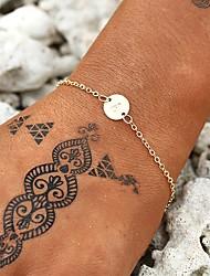 cheap -Women's Bracelet Geometrical Letter Simple European Casual / Sporty Fashion Chrome Bracelet Jewelry Gold For Wedding Birthday Gift Festival