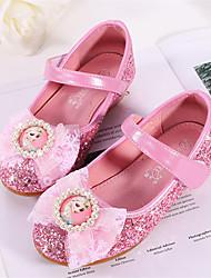 cheap -Girls' Ballerina / Flower Girl Shoes / Children's Day PU Flats Toddler(9m-4ys) / Little Kids(4-7ys) Sparkling Glitter Pink / Gold / Blue Spring / Fall / Wedding / Party & Evening / Wedding / Rubber