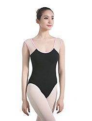 cheap -Ballet Leotards Women's Training / Performance Cotton / Elastane / Vicose Split Joint / Hook & Loop Sleeveless Leotard / Onesie