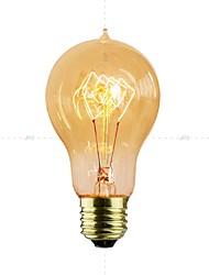 cheap -1pc 40 W E26 / E27 Yellow Transparent Body Incandescent Vintage Edison Light Bulb 110-130 V