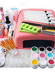 cheap -Nail Designs 2020 Acrylic Nail Art Kit Manicure Set 12 Colors Nail Glitter Powder Decoration Acrylic Pen Brush Nail Art Tool Kit For Beginners Arylic Liquid Nail Kit