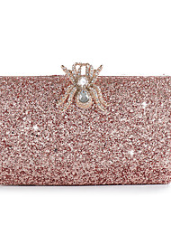 cheap -Women's Bags Alloy Evening Bag Buttons Crystals Solid Color for Wedding / Party / Event / Party Champagne / Rhinestone Crystal Evening Bags
