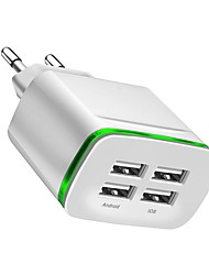 cheap -USB Charger -- 4 Desk Charger Station New Design EU Plug Charging Adapter