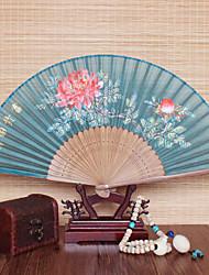 Недорогие -Взрослые Муж. Жен. азиатский кисточка В китайском стиле Косплэй Kостюмы Назначение Для вечеринок На каждый день Подарок 100% шелк Бамбук Складной ручной вентилятор