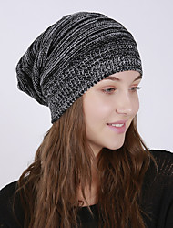 cheap -Unisex Active Basic Cute Acrylic Floppy Hat-Solid Colored Fall Winter Brown Black Light gray
