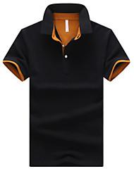 cheap -Men's Plus Size Solid Colored Polo Shirt Collar White / Black / Blue / Royal Blue / Light gray / Dark Gray / Navy Blue / Beige