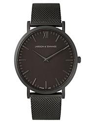 cheap -Couple's Dress Watch Quartz Black / Silver / Gold Casual Watch Analog Casual - Black Golden Golden+Black