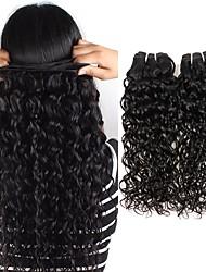 cheap -6 Bundles Indian Hair Water Wave Remy Human Hair Natural Color Hair Weaves / Hair Bulk Bundle Hair One Pack Solution 8-28 inch Natural Color Human Hair Weaves Easy dressing Fashion Thick Human Hair