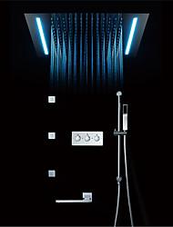 cheap -Shower Faucet - Contemporary Chrome Wall Installation Ceramic Valve Bath Shower Mixer Taps