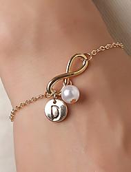 cheap -Women's Bracelet Geometrical Letter Infinity Simple European Casual / Sporty Fashion Gold Bracelet Jewelry Gold For Wedding Birthday Gift Festival