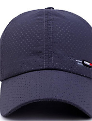cheap -Unisex Basic Polyester Baseball Cap-Solid Colored Dark Gray Navy Blue Light gray