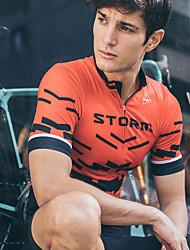 Недорогие -SPAKCT Муж. С короткими рукавами Велокофты Полиэстер Эластан Черный / красный Синий и черный Серый В полоску Большие размеры Велоспорт Джерси Верхняя часть Горные велосипеды Шоссейные велосипеды