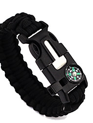 cheap -Paracord Bracelet Fire Starter with Compass, Paracord and Whistle Easy Carrying Multi-tool Safety Gear Ultra Light (UL) Cord Outdoor Exercise Camping Camping / Hiking / Caving Ivory Dark Green Dark
