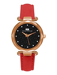 Недорогие -Жен. Часы-браслет Классика Элегантный стиль Черный Красный Зеленый Искусственная кожа Китайский Кварцевый Лиловый Темно-зеленый Темно-синий Повседневные часы обожаемый 30 m 1 ед. Аналоговый