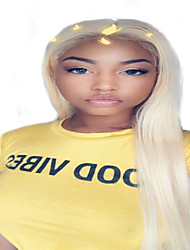cheap -Synthetic Wig Synthetic Lace Front Wig kinky Straight Natural Straight Middle Part Lace Front Wig Long Brown / White Synthetic Hair 26 inch Women's Synthetic Best Quality Natural Hairline White