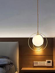 cheap -28cm LED Pendant Light Nordic Glass Bedside Light Dining Room Bar Contemporary Artistic Metal Painted Finishes 110-120V 220-240V