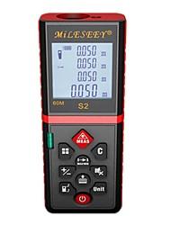 Недорогие -дальномер дальномера Mileseey S2 40 м Лазерный измеритель расстояния Диастометр Красный измерительный прибор