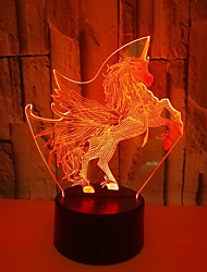 cheap -Flamingo 3D Nightlight Color-Changing Touch USB 1pc