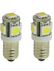 Недорогие -2pcs E10 Автомобиль Лампы 2 W SMD 5050 85 lm 5 Светодиодная лампа Внутреннее освещение Назначение Универсальный Дженерал Моторс Все года